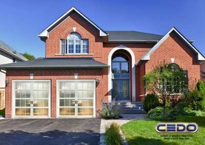11177365 - brick house in suburbs with two car garage